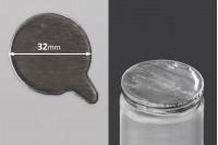 Joint autocollant argenté en aluminium 32mm- paquet de 32 pièces