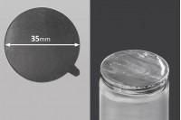 Joint autocollant argenté en aluminium 35mm- paquet de 24 pièces