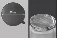 Joint autocollant argenté en aluminium 37mm- paquet de 18 pièces