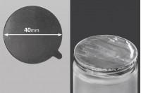 Joint autocollant argenté en aluminium 40mm- paquet de 36 pièces