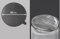 Joint autocollant argenté en aluminium 45mm- paquet de 18 pièces