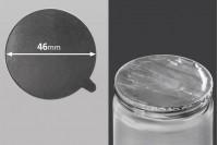 Joint autocollant argenté en aluminium 46mm- paquet de 8 pièces