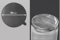 Joint autocollant argenté en aluminium 49mm- paquet de 8 pièces
