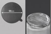 Joint autocollant argenté en aluminium 50mm- paquet de 8 pièces