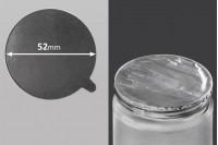 Joint autocollant argenté en aluminium 52mm- paquet de 8 pièces
