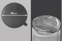 Joint autocollant argenté en aluminium 54mm- paquet de 8 pièces