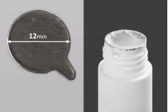 Αυτοκόλλητο παρέμβυσμα αλουμινίου 12 mm ασημί - 63 τμχ