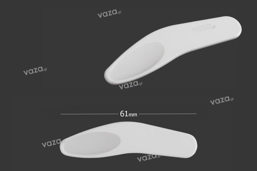 Σπάτουλα για κρέμα πλαστική (PE) λευκή 61 mm - 24 τμχ