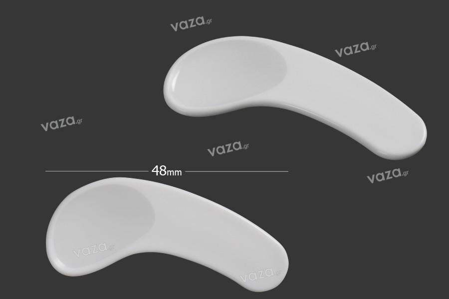 Σπάτουλα για κρέμα πλαστική (PE) λευκή 48 mm - 24 τμχ