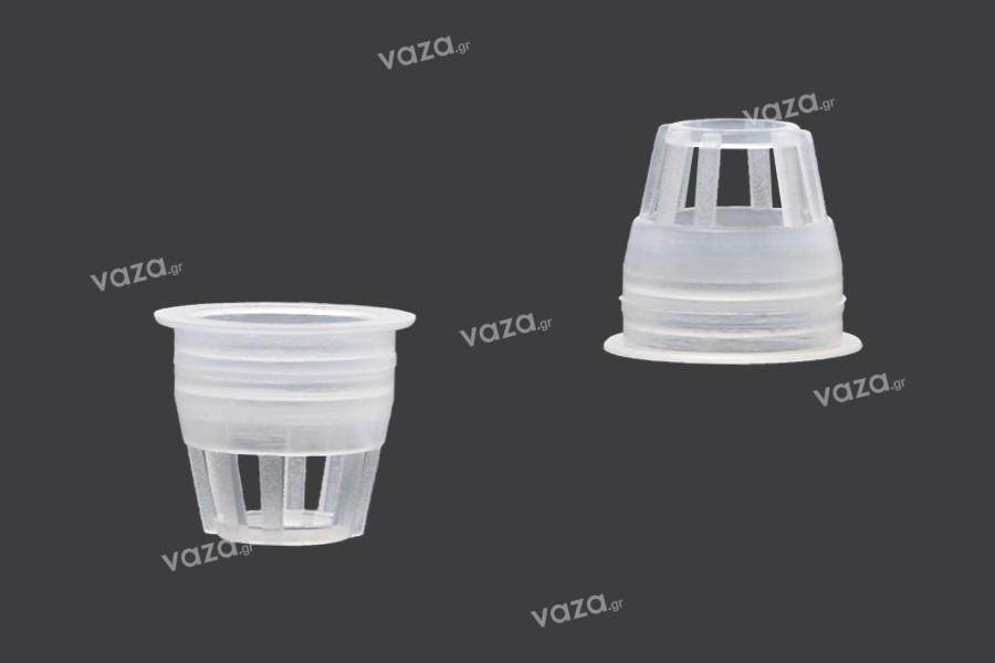 Ελεγκτής ροής - αποστραγγιστήρας πλαστικός (PE) - διάμετρος 14,8 mm - 50 τμχ