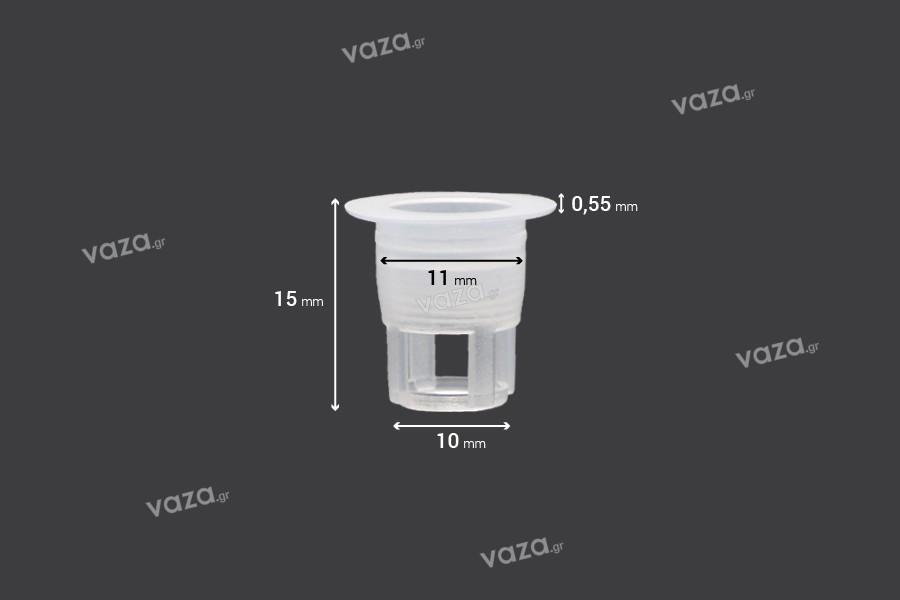 Ελεγκτής ροής - αποστραγγιστήρας πλαστικός (PE) - διάμετρος 11 mm - 50 τμχ