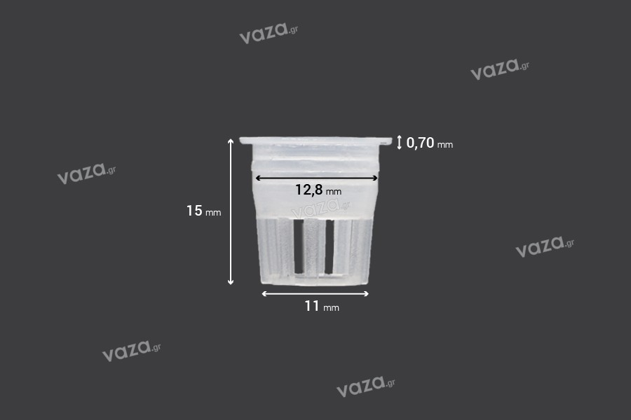 Ελεγκτής ροής - αποστραγγιστήρας πλαστικός (PE) - διάμετρος 12,5 mm - 50 τμχ