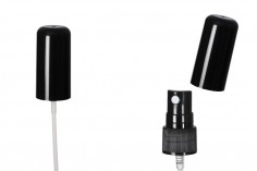 Σπρέι πλαστικό 18/410 με ολόκληρο καπάκι σε μαύρο χρώμα