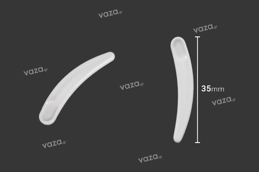 Σπάτουλα για κρέμα πλαστική (PE) σε λευκό χρώμα 35 mm - 24 τμχ