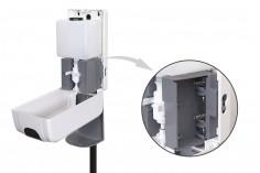Επιδαπέδια βάση-stand με αυτόματη συσκευή (dispenser) για αντισηπτικό χεριών
