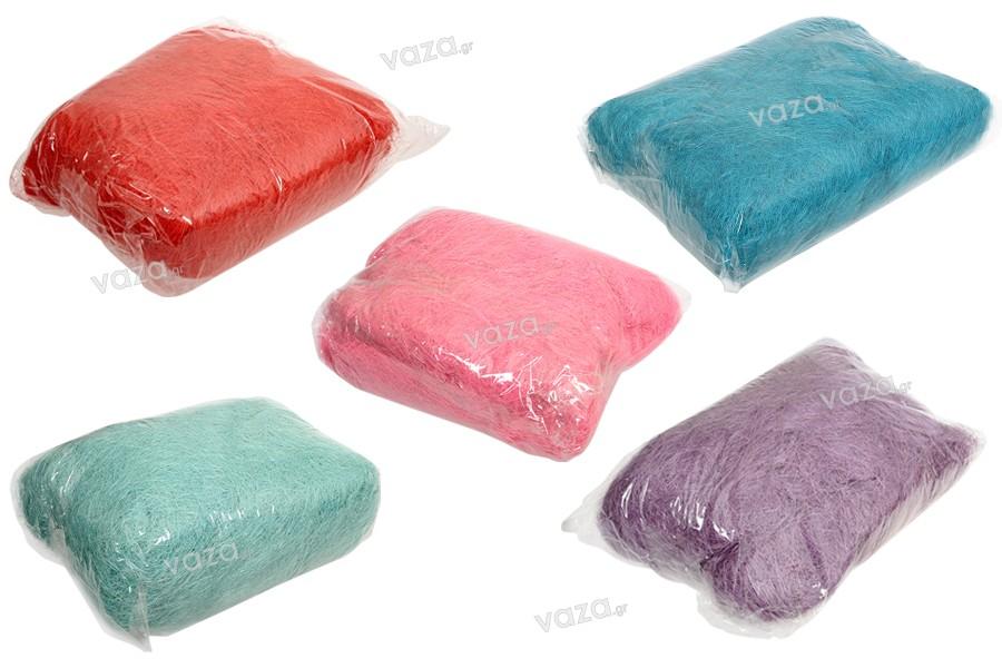 Φυσικό χόρτο διακόσμησης και συσκευασίας σε διάφορα χρώματα - 500 γρ.