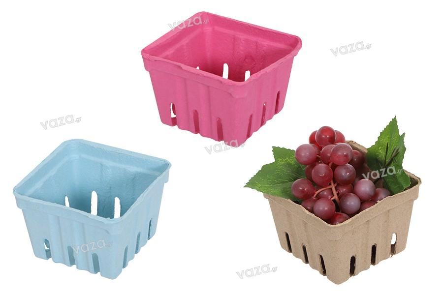 Καλαθάκια για φρούτα 110x110x75 mm από ανακυκλωμένο χαρτί