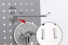 Γάντζος μονός για διάτρητο stand-λαμαρίνα 250 mm