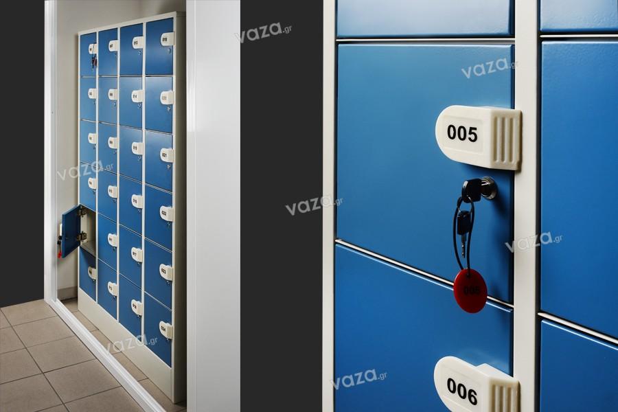 Φοριαμός μεταλλικός (locker) 120x45x180 cm - 24 θέσεων