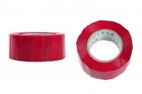 Ταινία συσκευασίας αυτοκόλλητη κόκκινη 54 mm πλάτος - Ένα ρολό 91 μέτρων