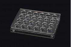 Σταντ (stand) plexiglass 165x120x28 με πόδια σιλικόνης - 24 θέσεων (άνοιγμα τρύπας 17 mm)