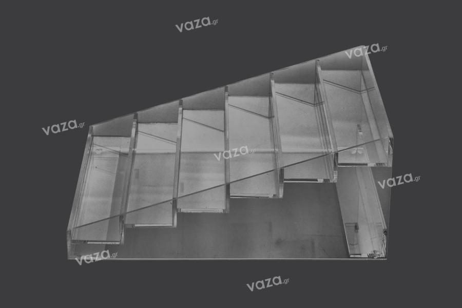 Σταντ (stand) plexiglass 273x304x126 mm - 6 επίπεδα