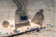 Πουγκί καφέ με παράθυρο (τούλι) σε καφέ χρώμα 100x140 mm - 12 τμχ