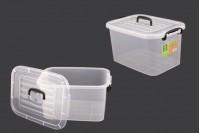 Κουτί αποθήκευσης 345x240x185 mm πλαστικό, διάφανο με χερούλι και κλείσιμο ασφαλείας