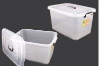 Κουτί αποθήκευσης 560x380x300 mm πλαστικό, διάφανο με χερούλι και κλείσιμο ασφαλείας