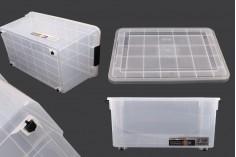 Κουτί αποθήκευσης 520x380x260 mm πλαστικό διάφανο με κλείσιμο ασφαλείας