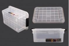 Κουτί αποθήκευσης 400x270x170 mm πλαστικό διάφανο με κλείσιμο ασφαλείας