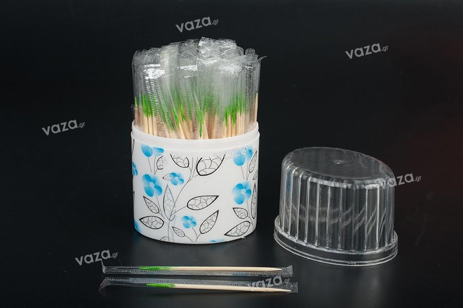 Οδοντογλυφίδες σε ατομική συσκευασία - Βαρελάκι 100 τμχ