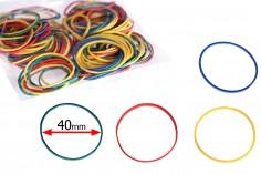 Λαστιχάκια πολύχρωμα με διάμετρο 40 mm - το πακέτο περιλαμβάνει περίπου 120 τμχ