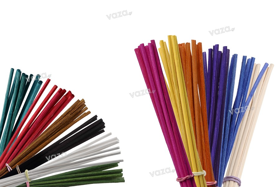 Bamboo sticks για αρωματικά χώρου σε ποικιλία χρωμάτων (μήκος 22 cm) - 10 τμχ