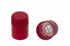 Guala πώμα ασφαλείας κόκκινο πλαστικό με μπίλια ροής - μιας χρήσης - για μπουκάλια με αντίστοιχο λαιμό