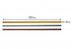 Καλαμάκια χάρτινα 197x6 mm οικολογικά σε χρώματα μεταλιζέ - 25 τμχ