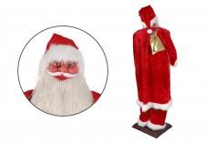 Άγιος Βασίλης διακοσμητικός, χορευτής με κίνηση και μουσική - ύψος 180 cm