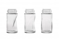 Roll-on glass bottle 50 ml with black plastic lid