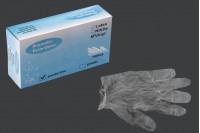 Gants jetables transparents de vinyle sans poudre, taille Large-paquet de 100 pièces