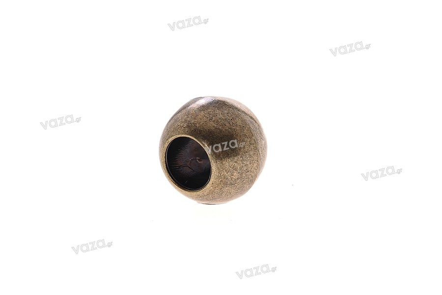 Χάντρα πλαστική βαμμένη μεγάλη 20x17 mm