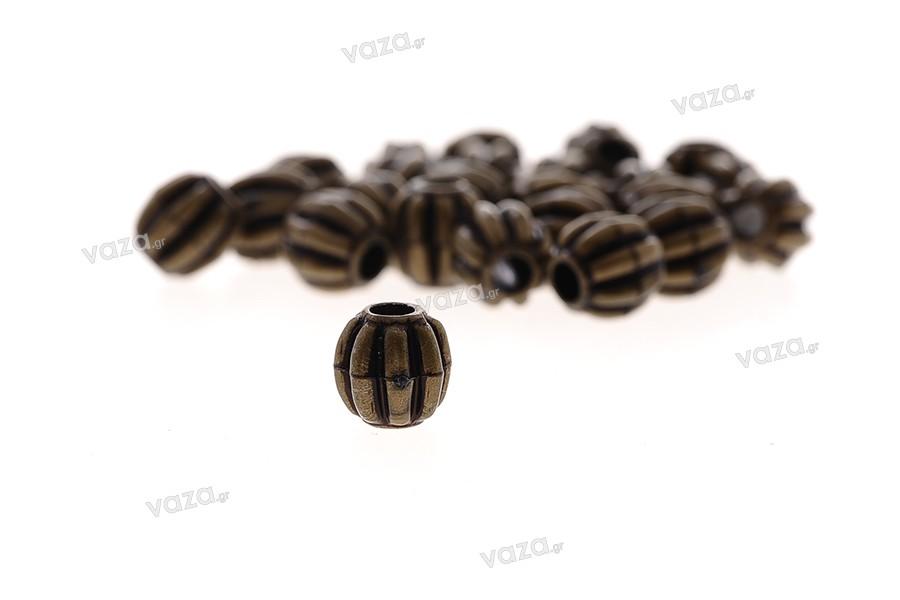 Χάντρες μεταλλικές μικρές 0,7x0,8 mm