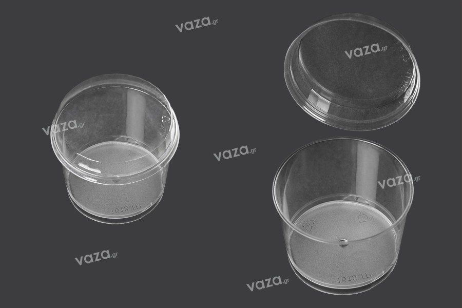 Κυπελλάκι πλαστικό 200 ml διάφανο σε στρογγυλό σχήμα - 50 τμχ
