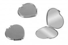 Καθρεφτάκι τσάντας σε σχήμα καρδιάς