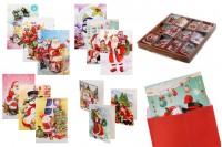 Cartes de voeux de Noël - 120 pièces (différents modèles)
