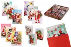 Ευχετήριες κάρτες Χριστουγέννων - 120 τμχ (διάφορα σχέδια)