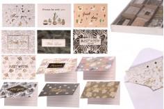 Ευχετήριες κάρτες σε διάφορα σχέδια - 120 τμχ
