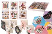 Ευχετήριες χάρτινες κάρτες γενεθλίων - 120 τμχ (διαφορετικά σχέδια)