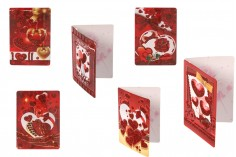 Ευχετήριες χάρτινες κάρτες αγάπης - 120 τμχ (διάφορα σχέδια)