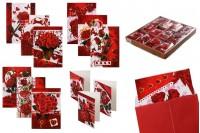 Cartes de voeux avec des roses dessinées - 120pcs (différents modèles)