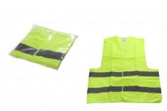 Γιλέκο ασφάλειας - σήμανσης εργασίας κίτρινο φωσφοριζέ με ανακλαστικές ταινίες